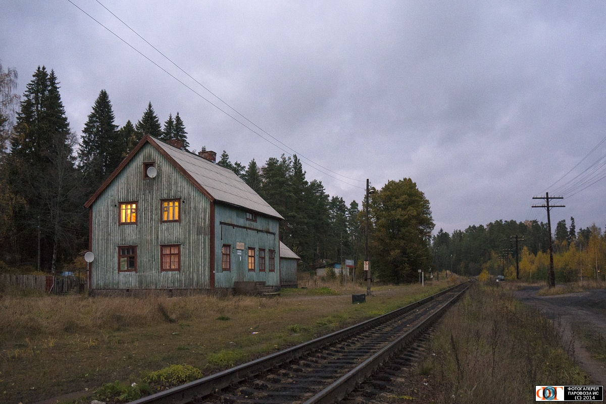 October 12, 2014. Huuhanmäki Railway Station