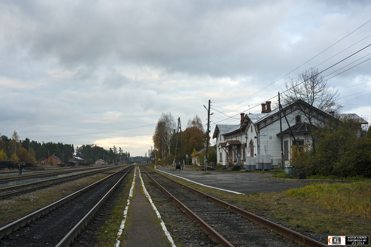 October 12, 2014. Jaakkima Railway Station