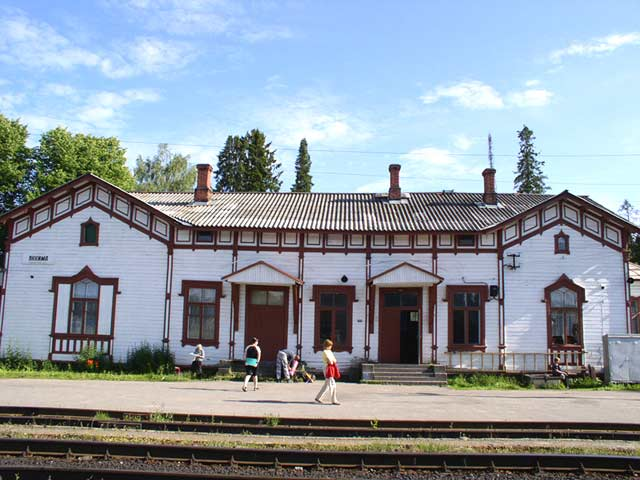 July 30, 2004. Jaakkima Railway Station