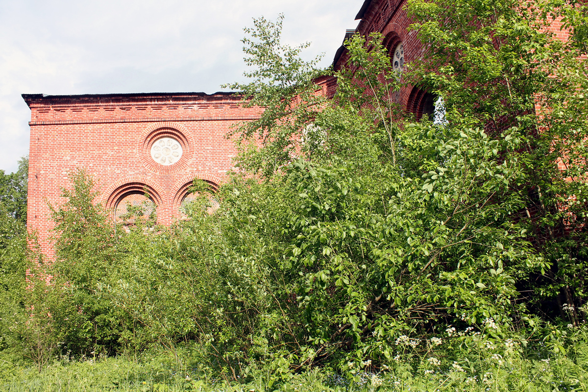 June 14, 2015. Ruins of the church