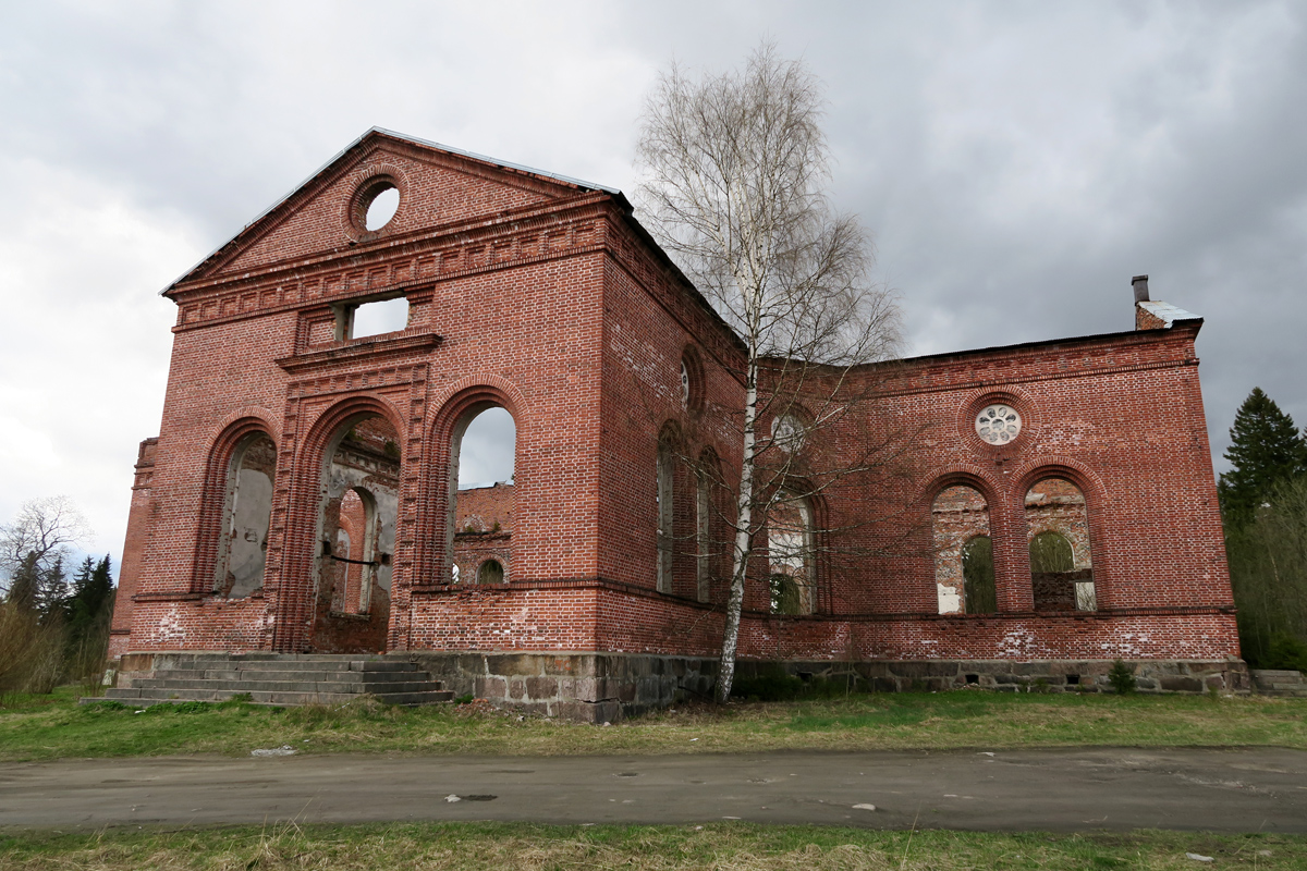 May 9, 2015. Ruins of the church