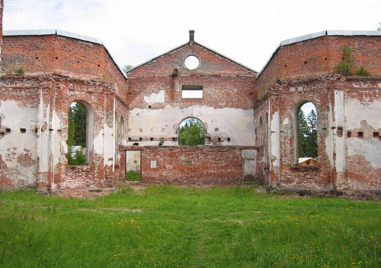 June 12, 2004. Ruins of the church