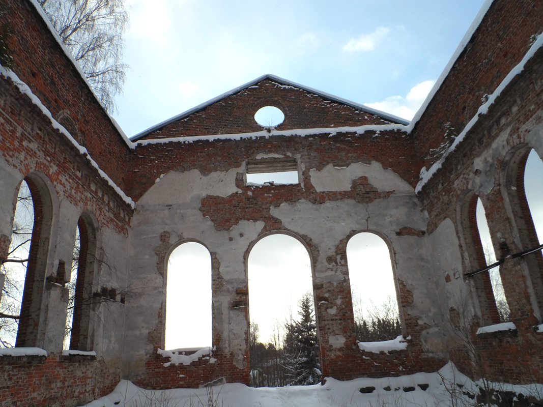 February 27, 2016. Ruins of the church