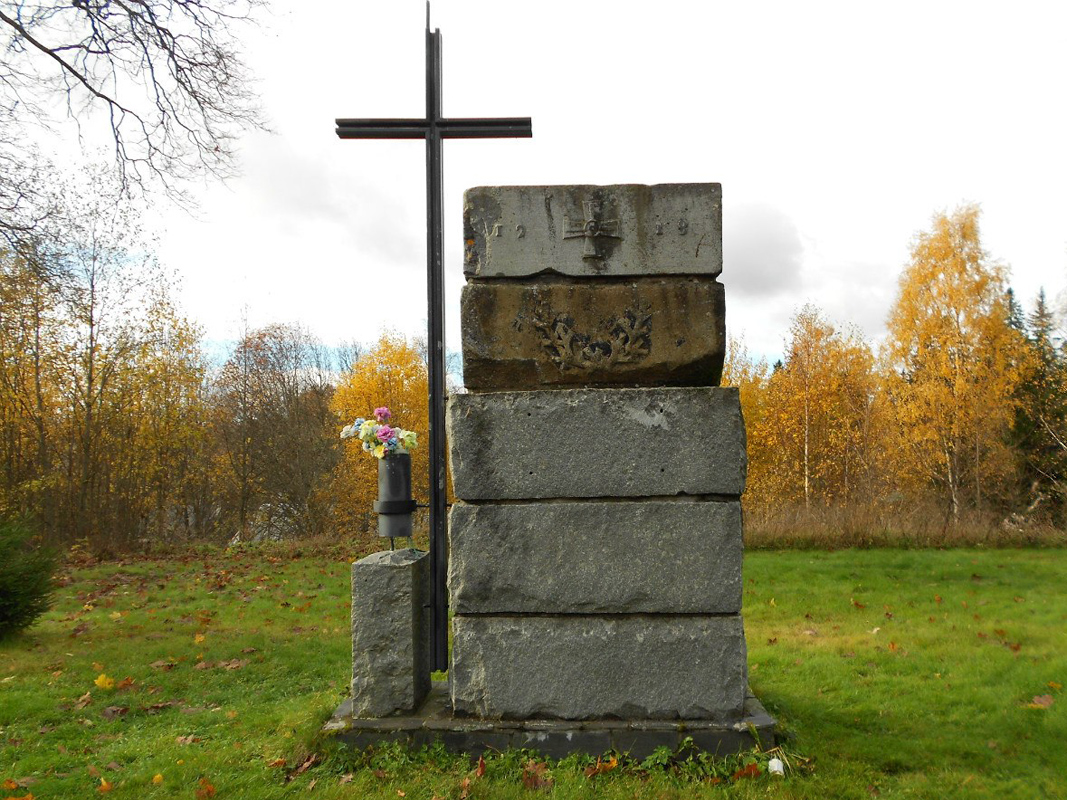 October 2013. Memorial cross