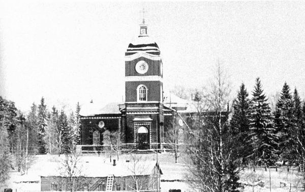 1930's. Jaakkima. Lutheran church
