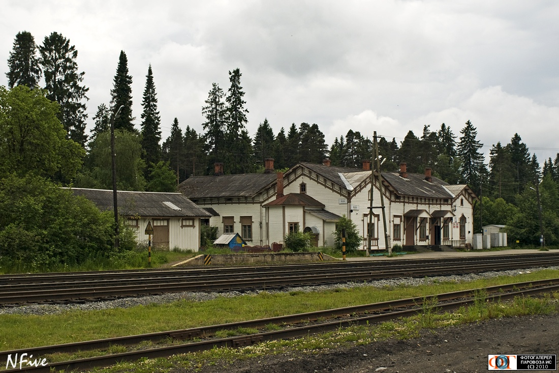 June 26, 2010. Jaakkima Railway Station