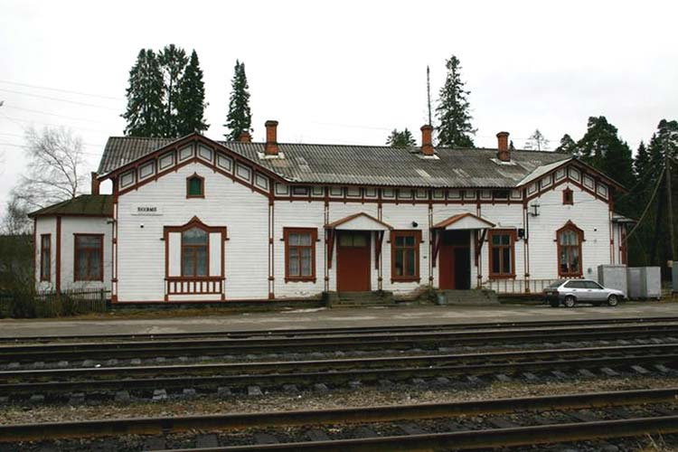 May 1, 2005. Jaakkima Railway Station