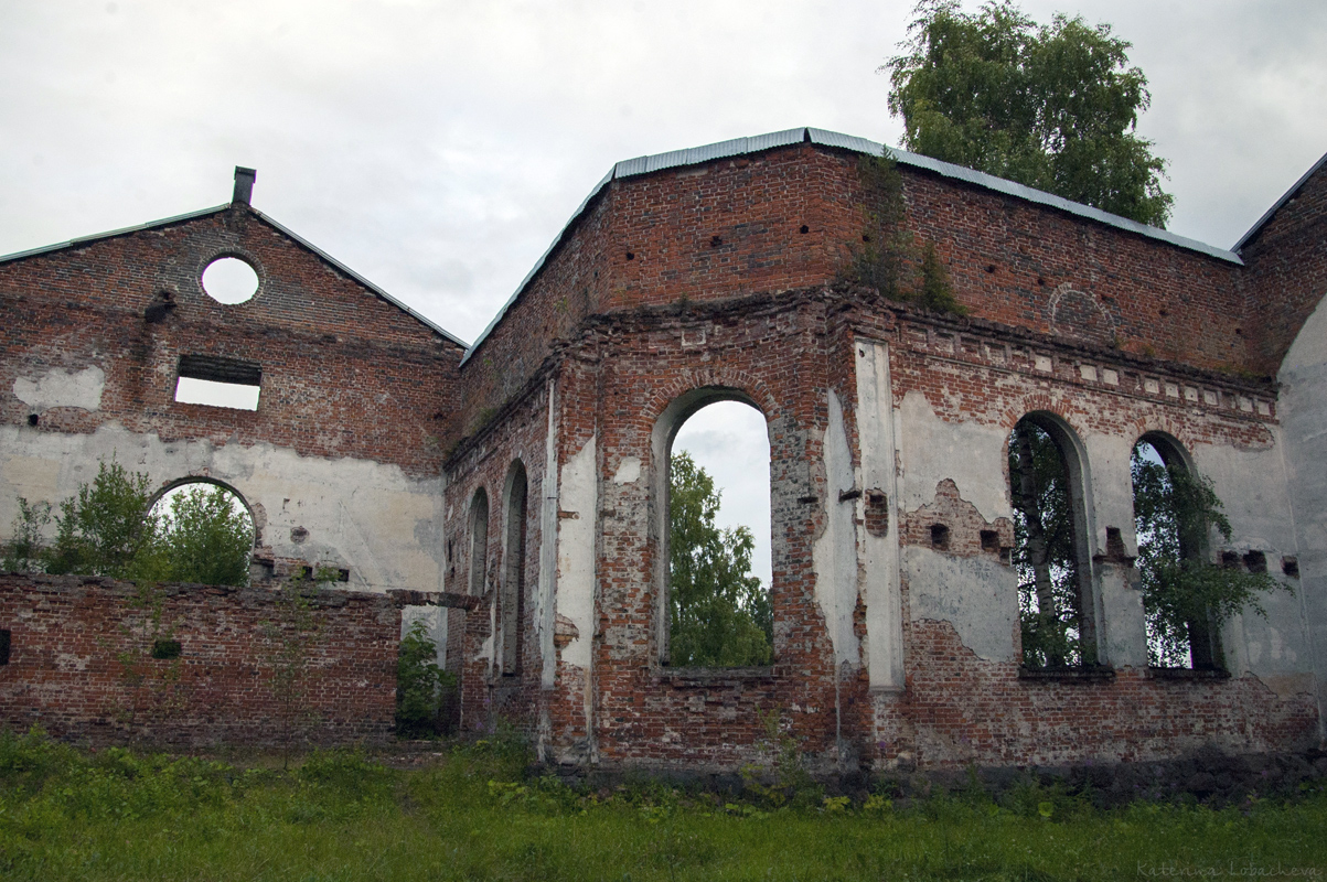 August 27, 2013. Ruins of the church