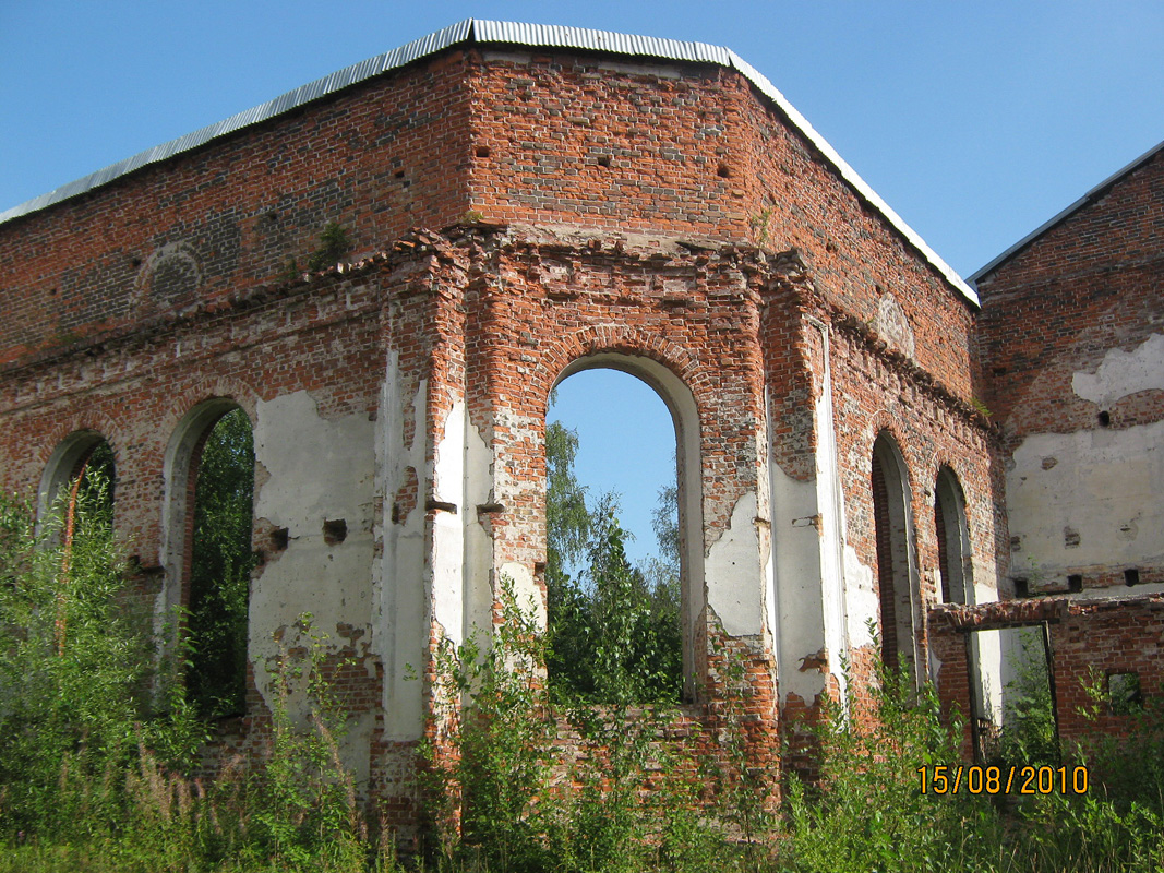August 15, 2010. Ruins of the church