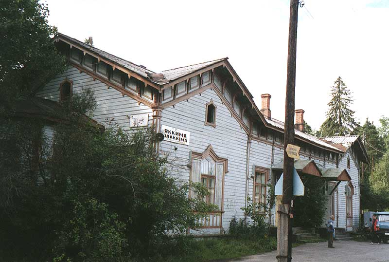 August 2001. Jaakkima Railway Station