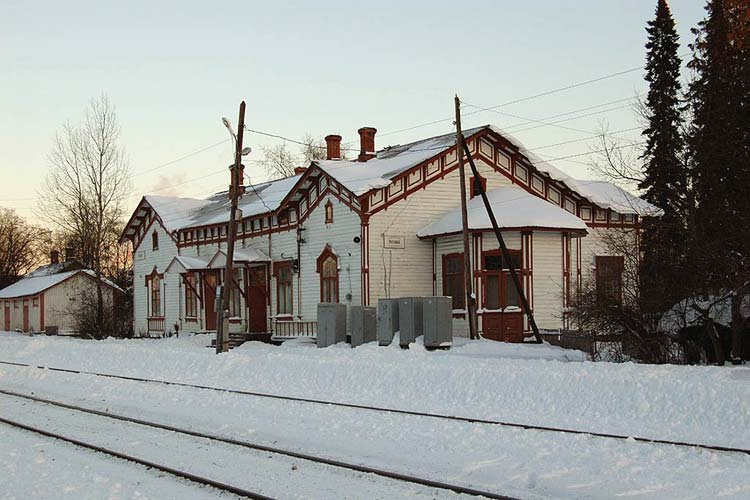 November 4, 2006. Jaakkima Railway Station