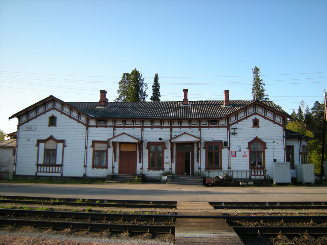 May 19, 2009. Jaakkima Railway Station