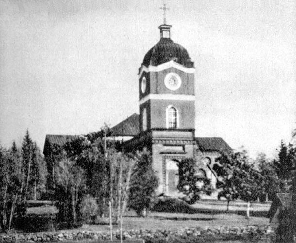 1940's. Jaakkima. Lutheran church