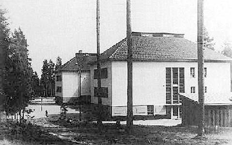 1930's. Huuhanmäki. The barracks of Viborg regiment