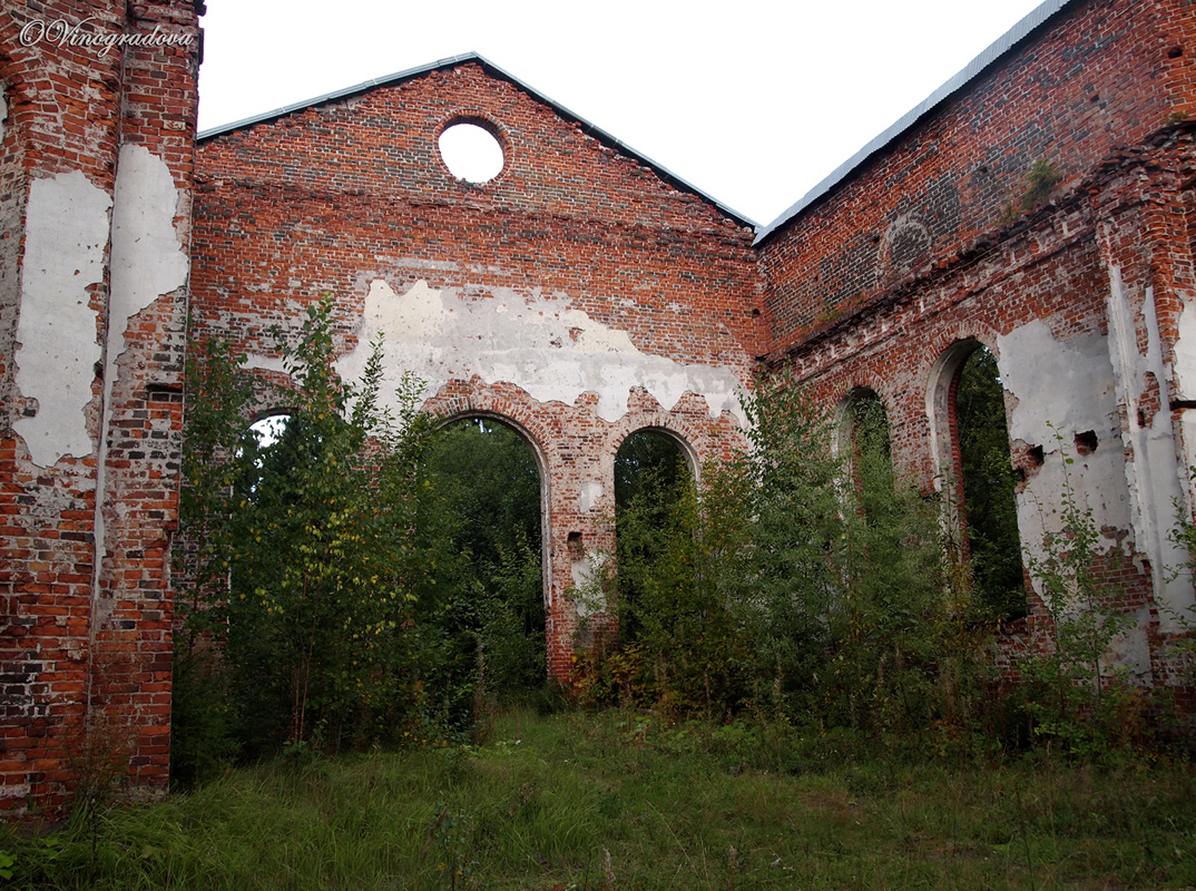 September 10, 2011. Ruins of the church
