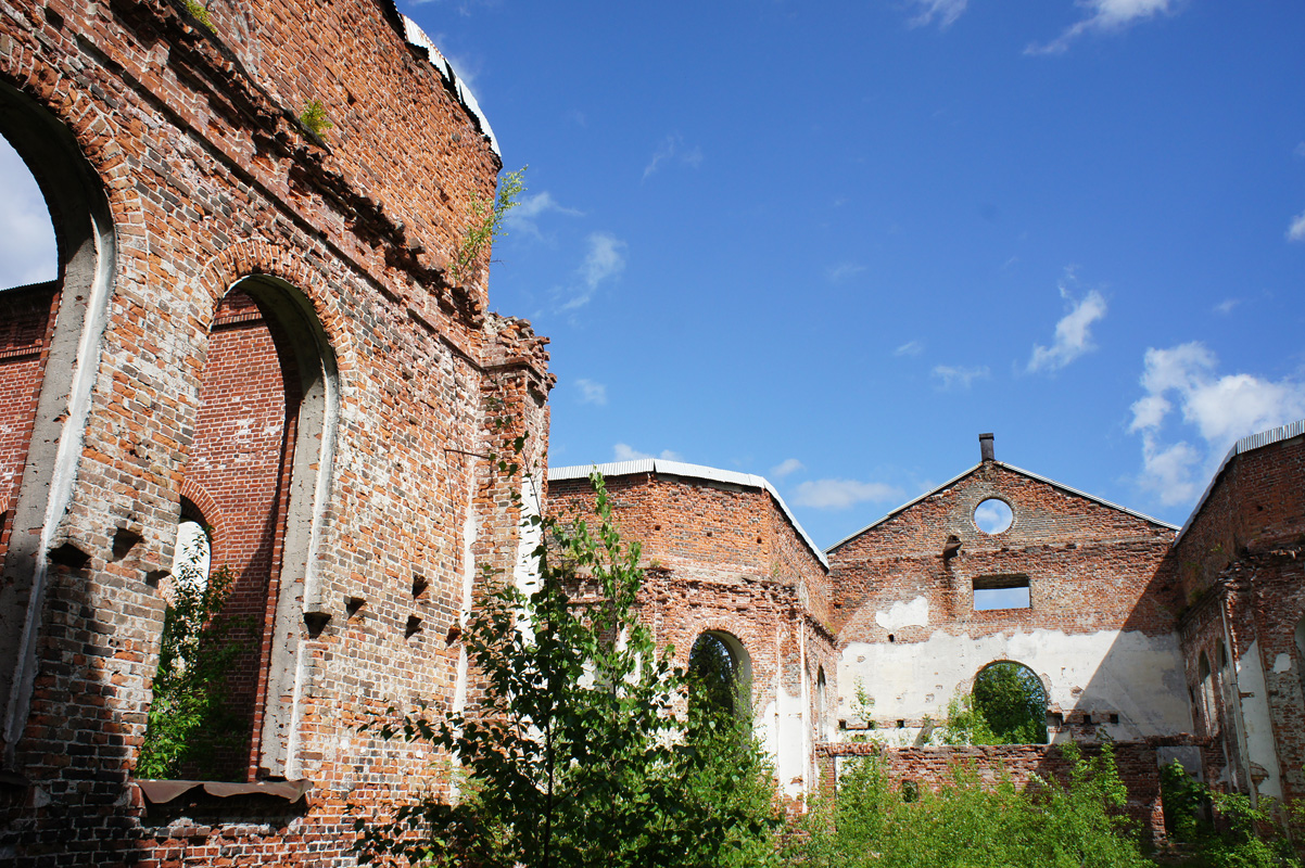 June 10, 2012. Ruins of the church
