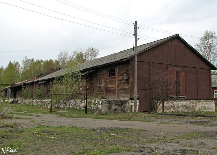 May 22, 2006. Lahdenpohja, old railway warehouses