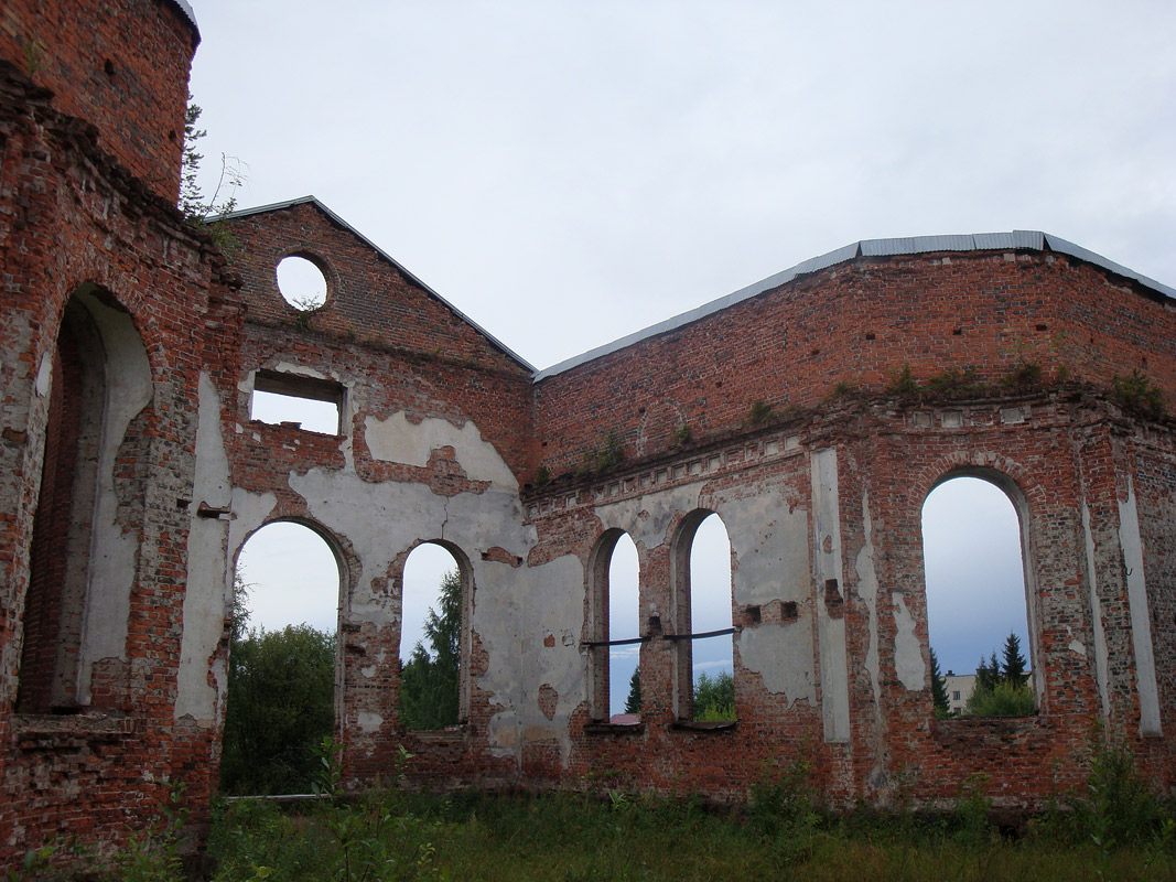 August 14, 2009. Ruins of the church