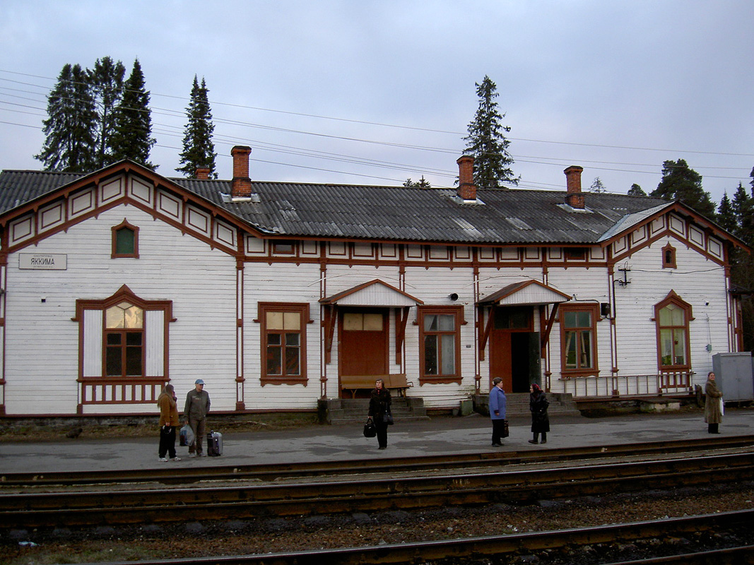 April 17, 2007. Jaakkima Railway Station