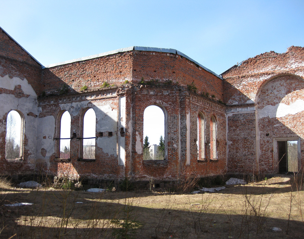 April 24, 2011. Ruins of the church