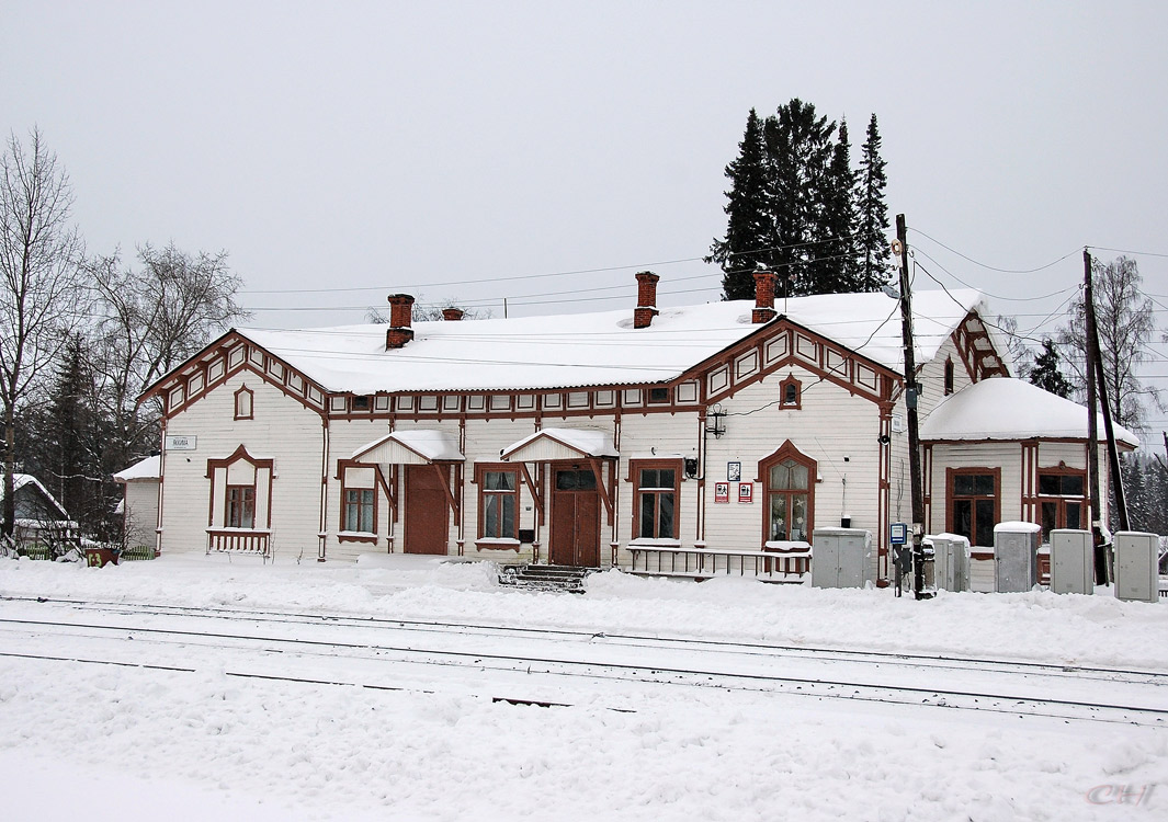 December 30, 2009. Jaakkima Railway Station
