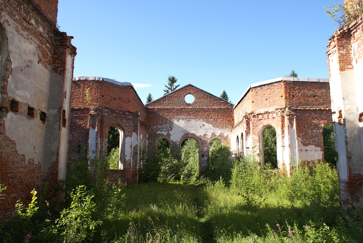 July 13, 2011. Ruins of the church