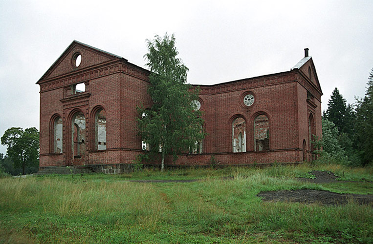 August 12, 2005. Ruins of the church