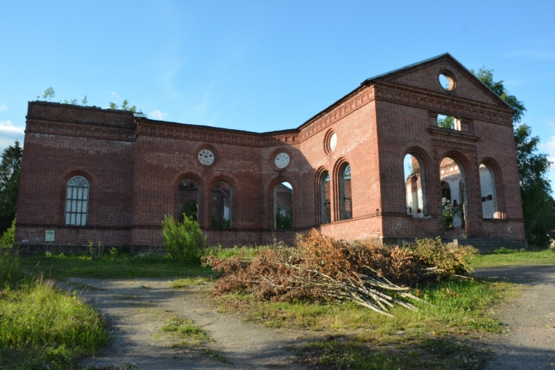 July 2, 2013. Ruins of the church