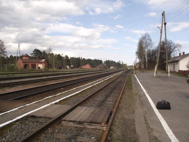May 12, 2013. Jaakkima Railway Station