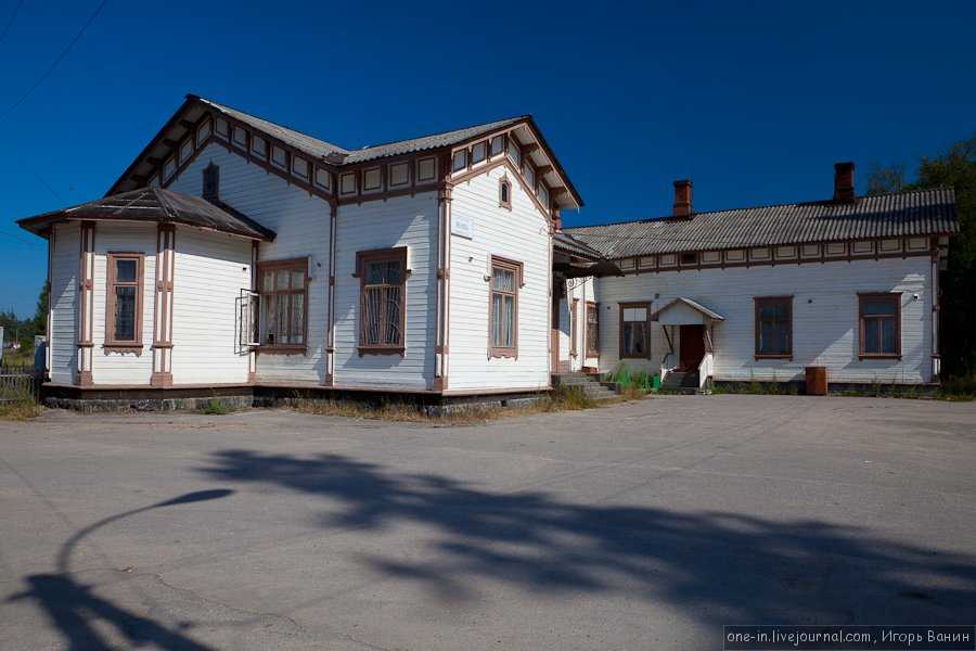 August 14, 2010. Jaakkima Railway Station