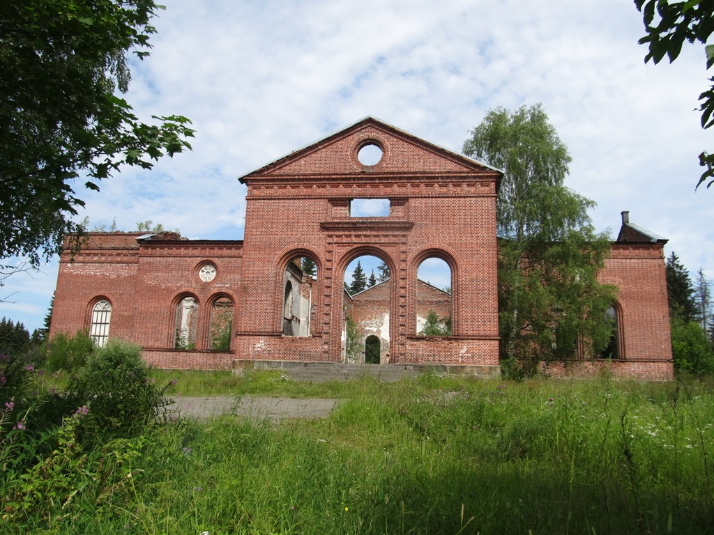 July 23, 2014. Ruins of the church