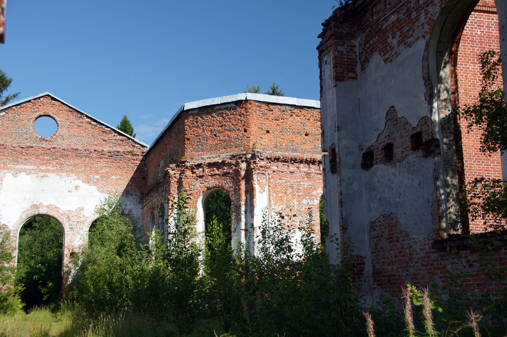 August 21, 2012. Ruins of the church