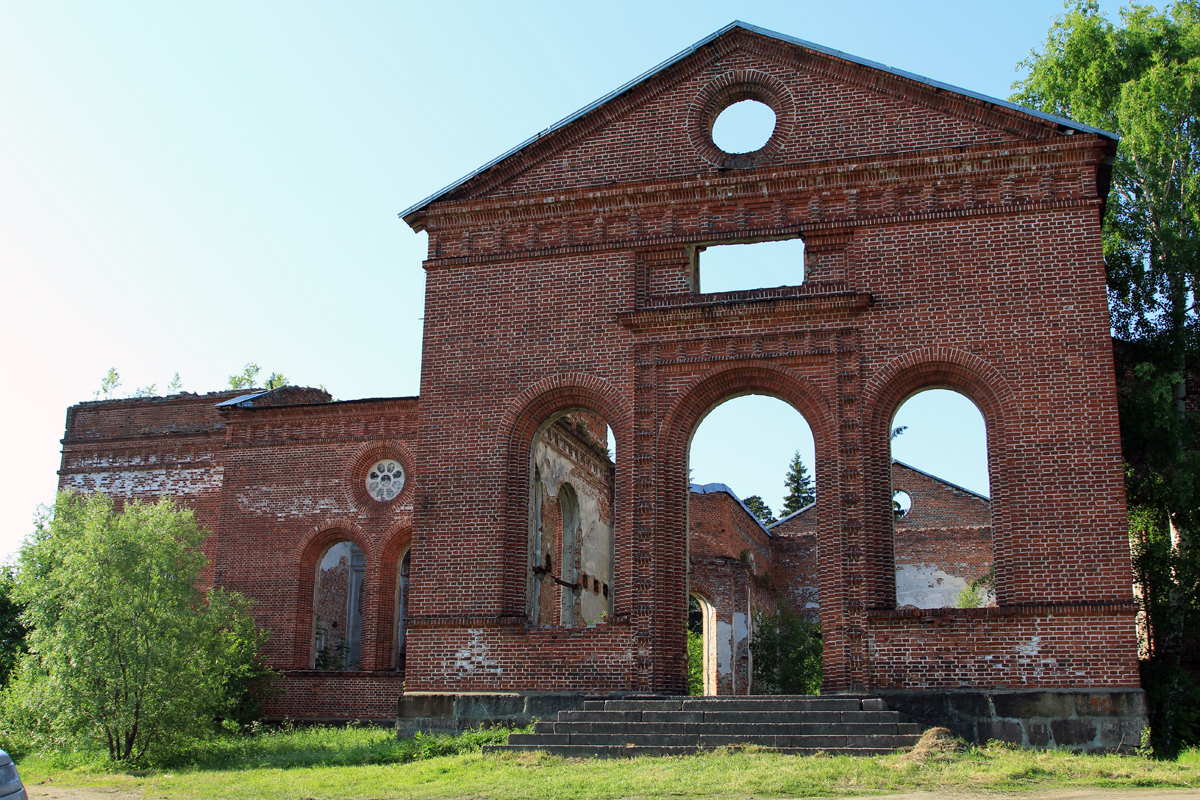 June 23, 2013. Ruins of the church