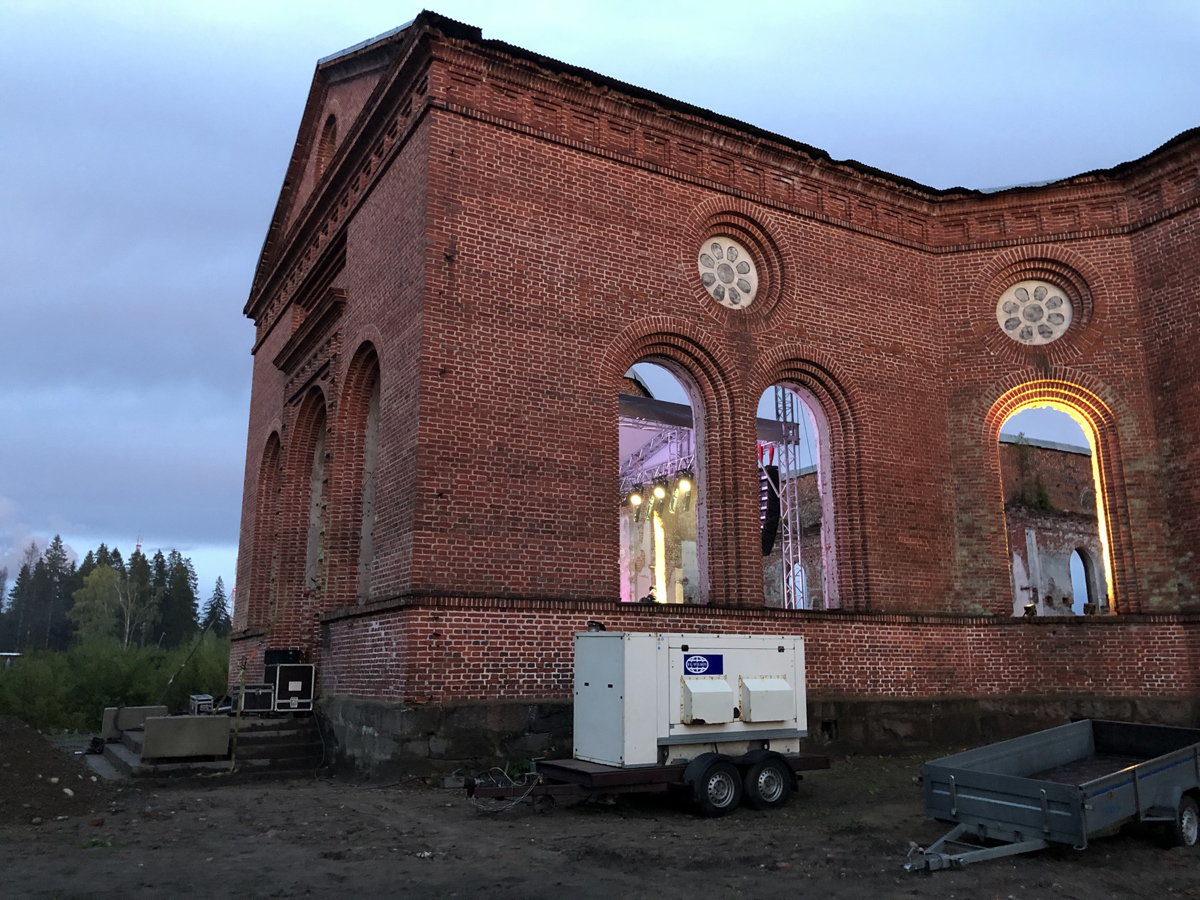 September 13, 2019. Ruins of the church