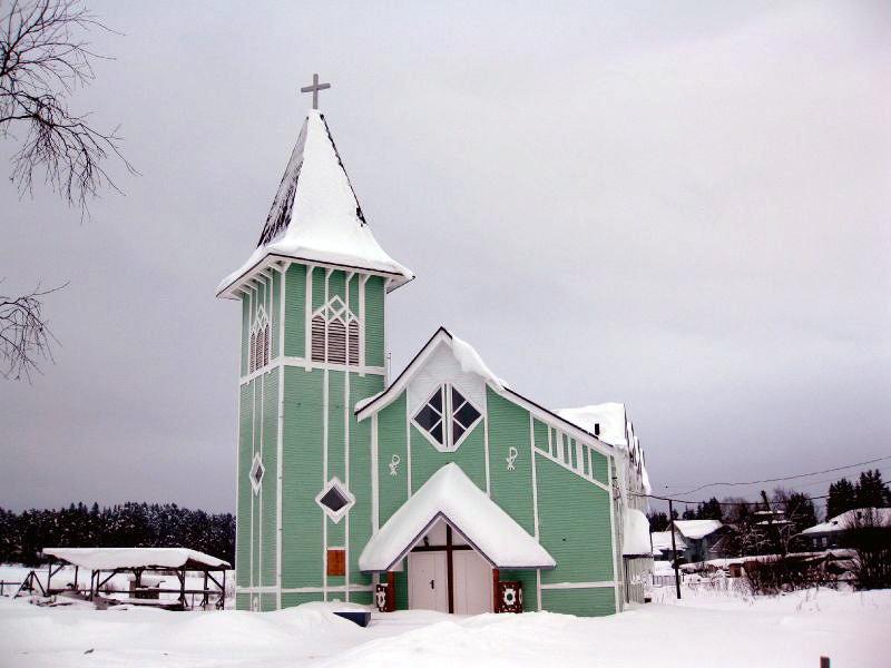 13 апреля 2012 года. Лютеранская церковь в Ляскеля