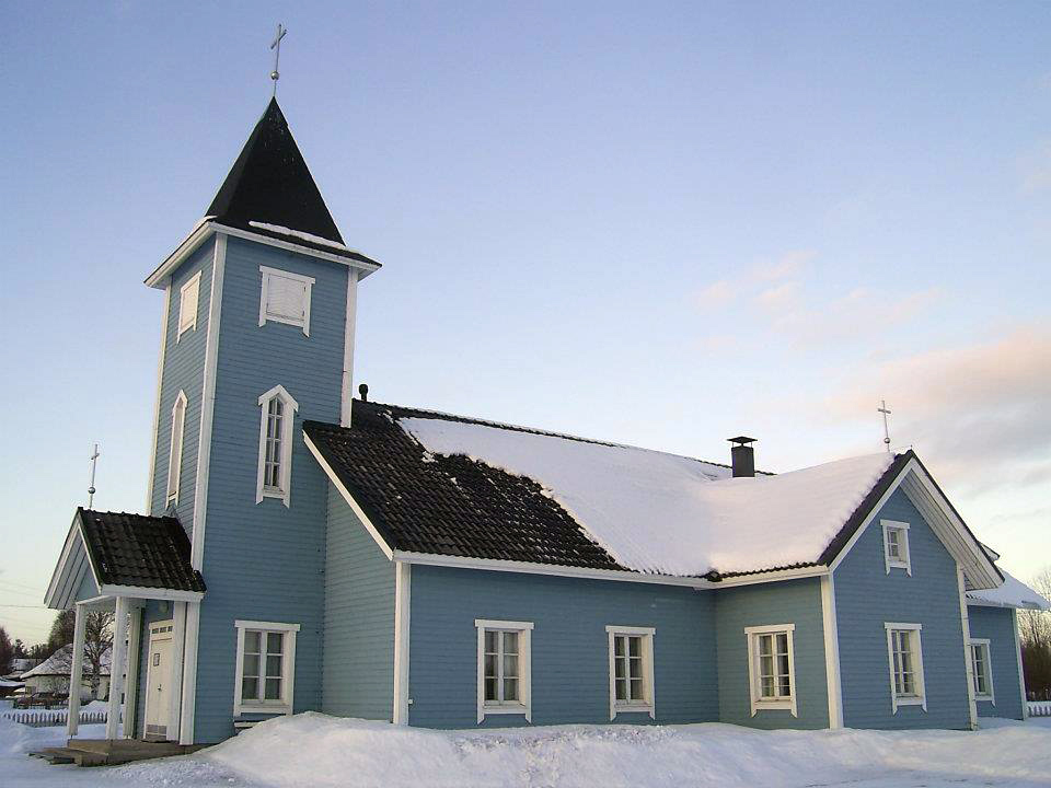 March 10, 2012. Lutheran church in Kalevala