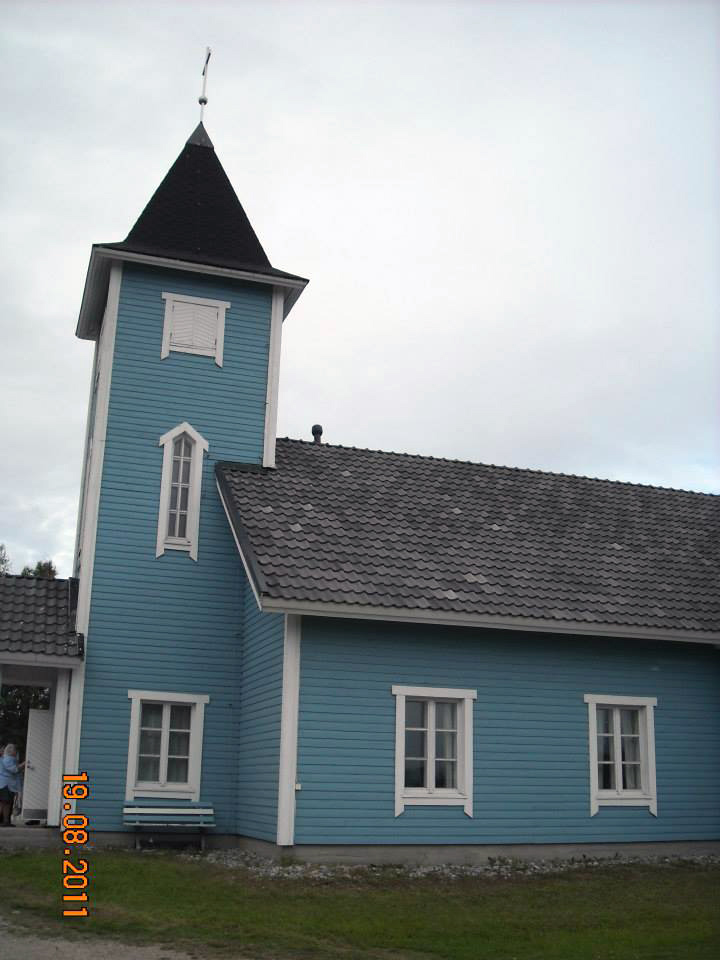 August 19, 2011. Lutheran church in Kalevala