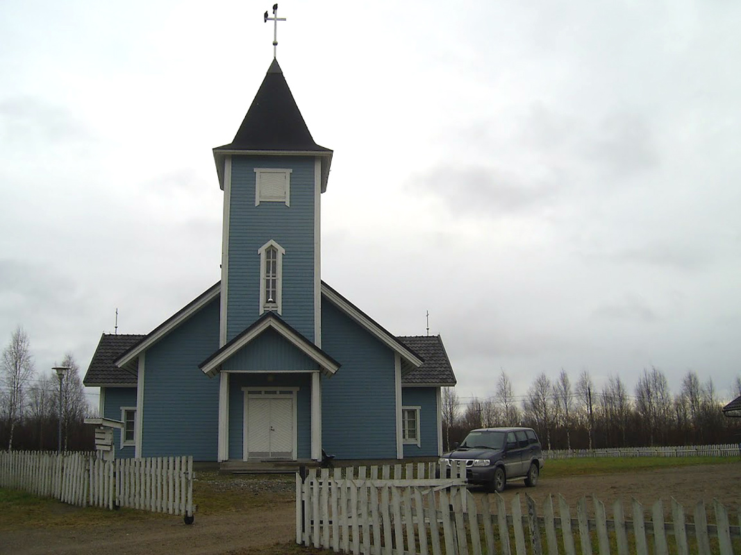 November 2011. Lutheran church in Kalevala