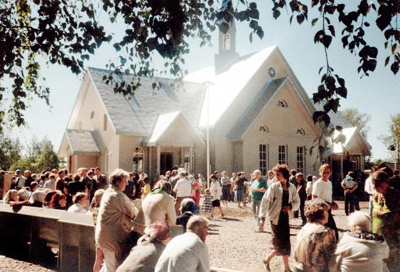 June 13, 1999. Lutheran church in Olonets. Consecration