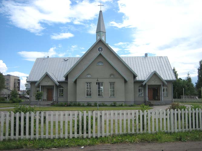 June 30, 2005. Lutheran church in Olonets