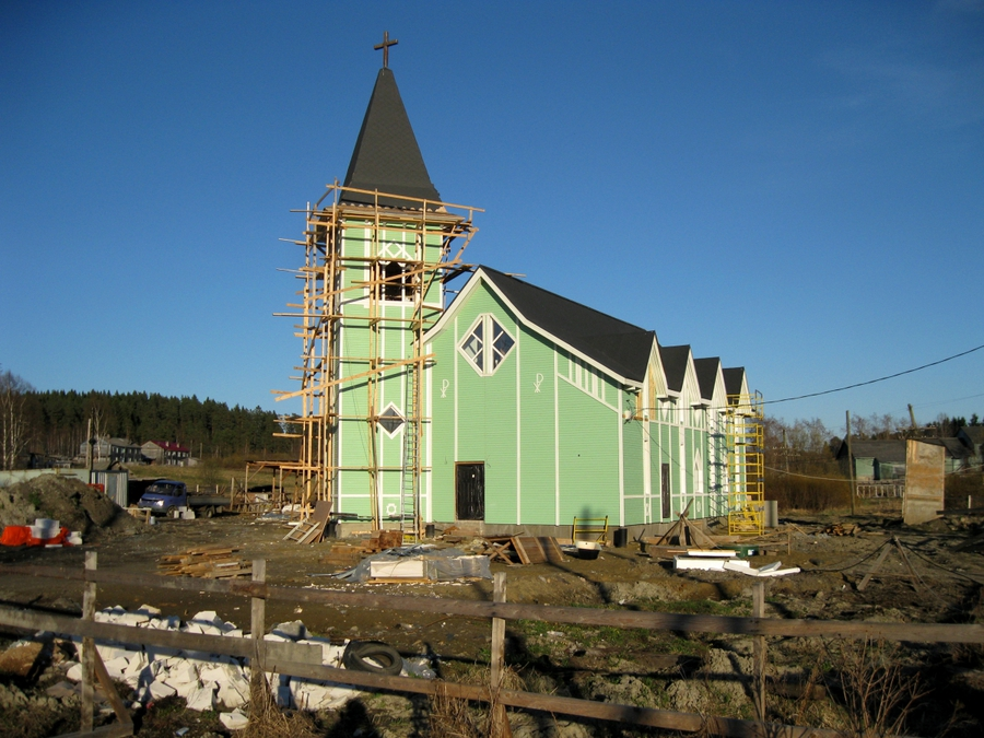 May 8, 2011. Lutheran church in Läskelä