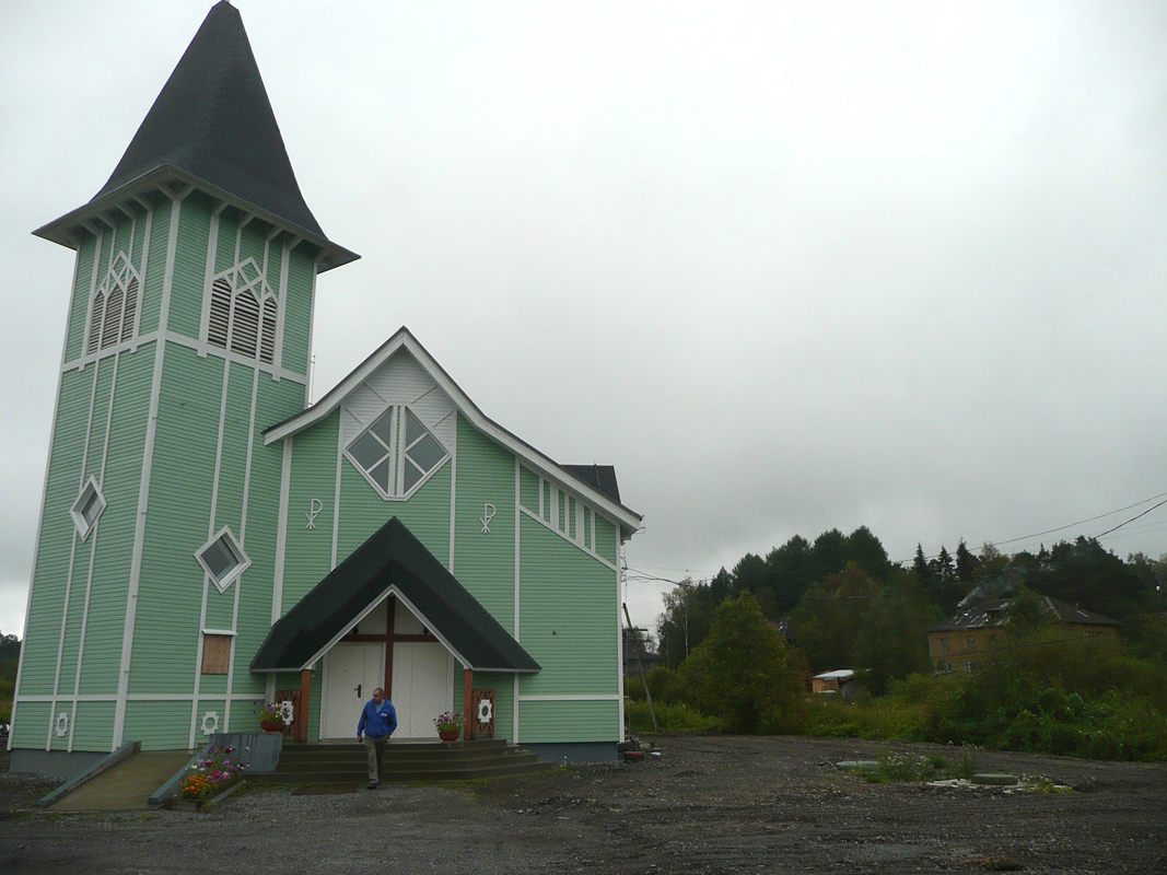 September 29, 2012. Lutheran church in Läskelä
