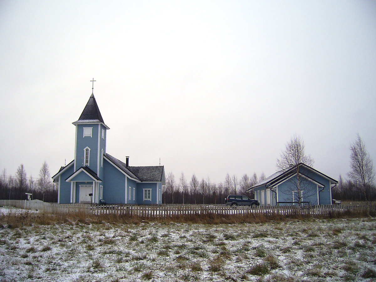 April 19, 2005. Lutheran church in Kalevala
