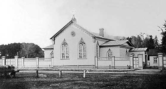 1880's. Petrosavodsk. Gogolevskaya street. Lutheran church