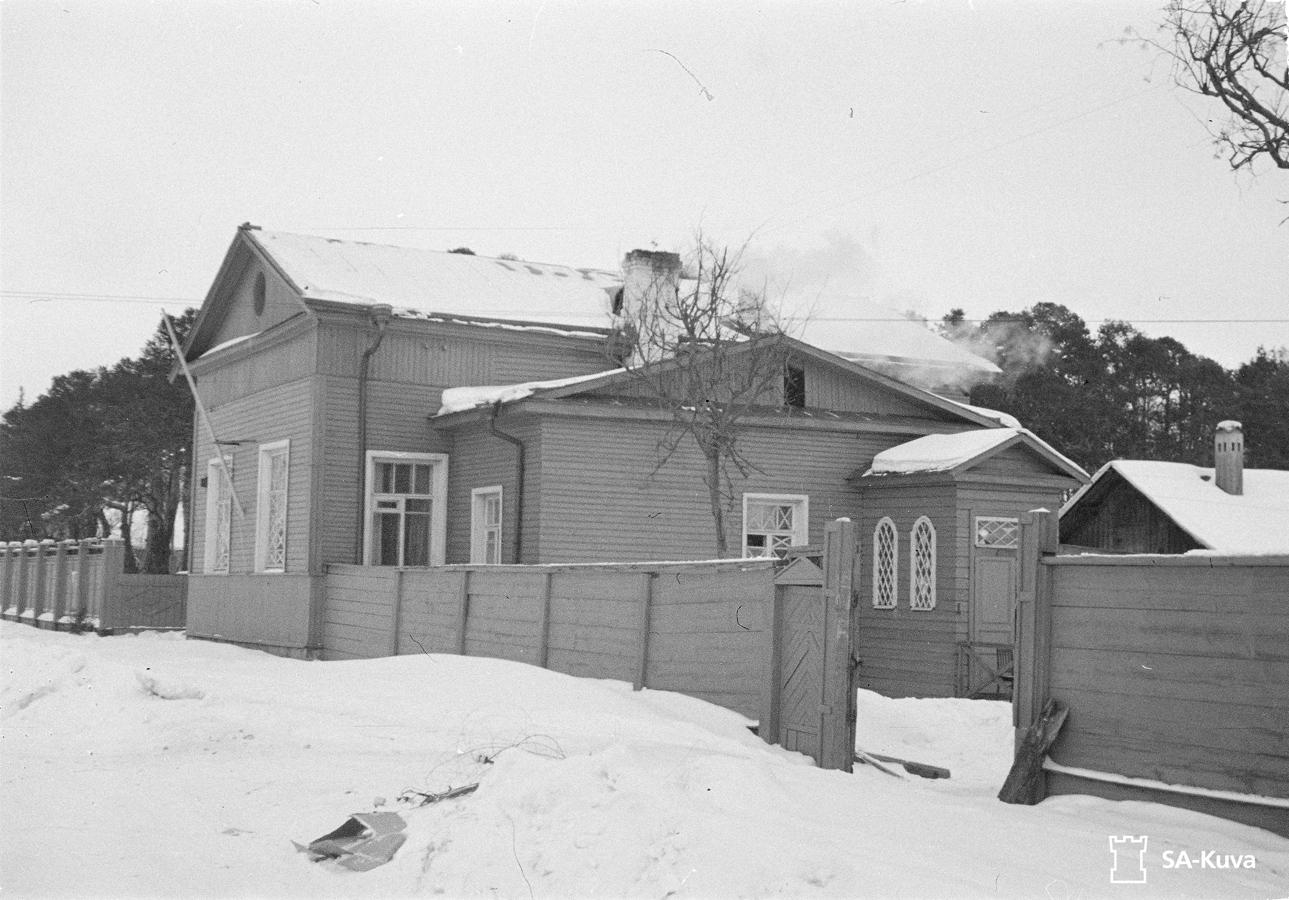 22 февраля 1942 года. Яянислинна (бывшый Петрозаводск). Аунуксенкату (бывшая улица Герцена). Лютеранская церковь