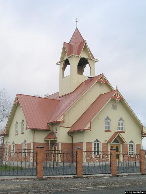 November 2004. Lutheran church in Kondopoga