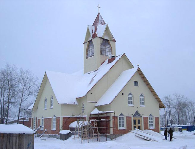 January 2004. Lutheran church in Kondopoga