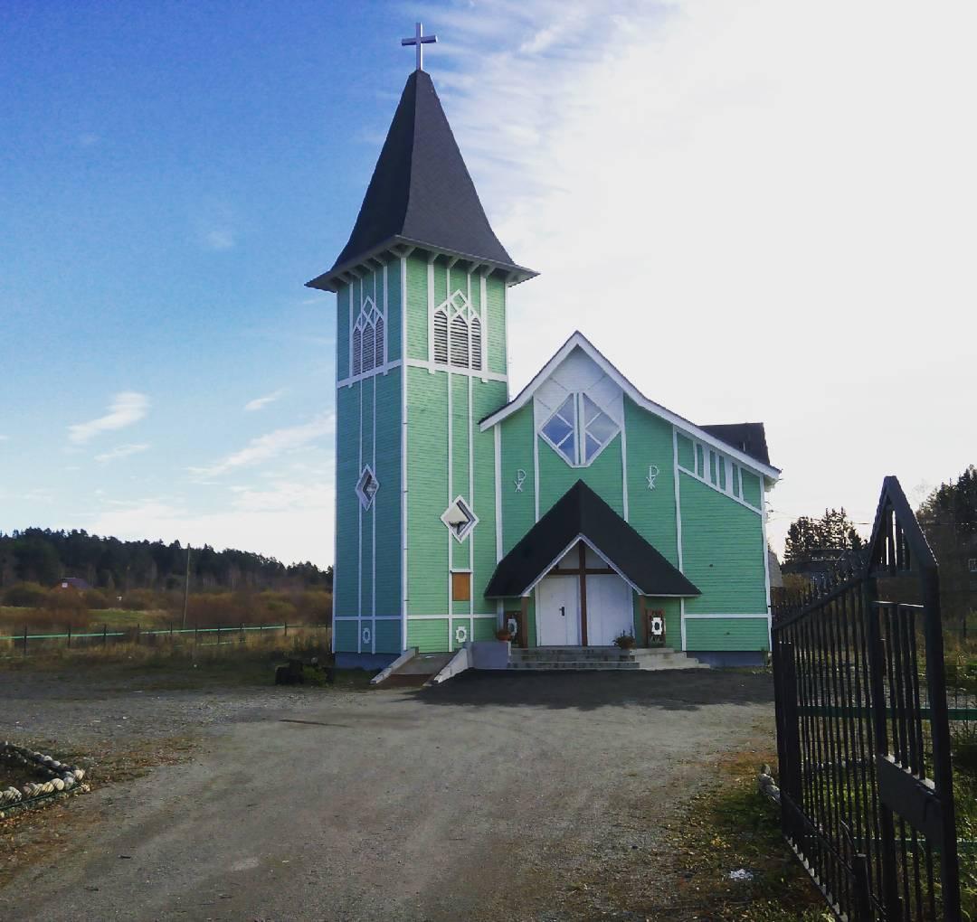 2017 год. Лютеранская церковь в Ляскеля