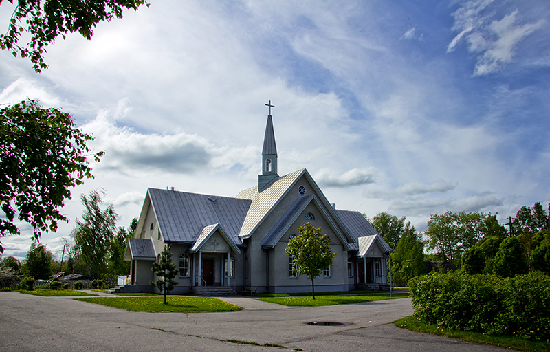 May 24, 2012. Lutheran church in Olonets