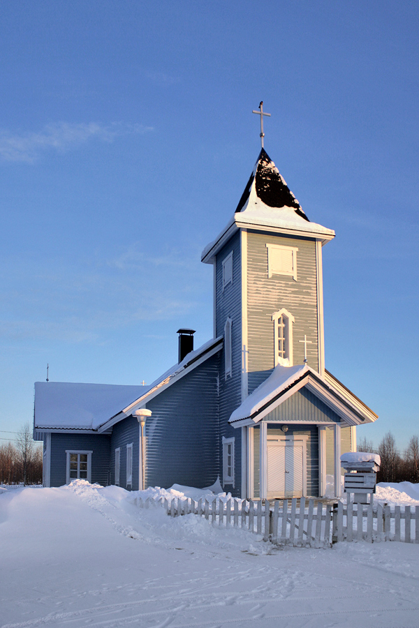 February 2011. Lutheran church in Kalevala